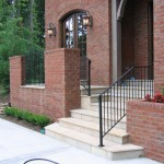 Wrought Iron Knoxville Outside Handrails & Stairs